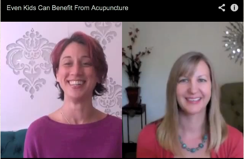 Spreading the Word that Acupuncture Can Help Kids, Too!  Robin's Video Interview